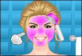لعبة تنظيف بشرة الوجه