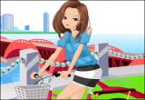 العاب تلبيس بنات على الدراجة