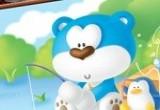 لعبة تلوين الدب الازرق في الغابة 2014