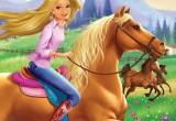 لعبة تلوين باربي و حصانها الجميل