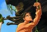 لعبة تلوين طرزان والحيوانات في الغابة على الاشجار