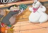 لعبة تلوين قطة وقط يهديها ضمة ورد