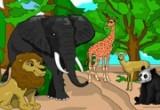لعبة تلوين حيوانات المزرعة زرافة واسد وفيل ودب وغزال