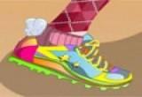 لعبة تلوين حذاء باربي الرياضي 2014