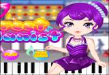 لعبة تلوين عازفة البيانو