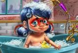 العاب استحمام الطفل سنفور بدون تحميل