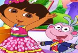 لعبة تلوين دورا والقرد واصدقائها 2014