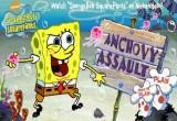 لعبة مغامرات سبونج بوب Anchovy Assault