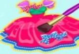 لعبة تصميم فستان باربي الجميل