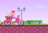 لعبة دراجة باربي في نقل الزهور