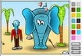 العاب تلوين فيل كبير