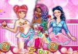 لعبة الكرات الملونة واكل الحلوى
