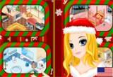 لعبة تلوين ديكور بيت الميلاد