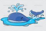 لعبة تلوين الحوت المرح في البحر