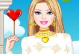لعبة تلوين باربي يوم الحب