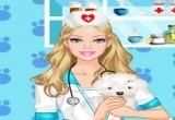 لعبة تلبيس باربي الدكتورة البيطرية