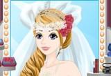 لعبة تلوين باربي في فستان الزفاف