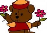 لعبة تلوين الدب الجميل 2014