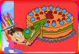 لعبة تزيين وتلوين الكيكة