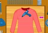 لعبة تلوين ملابس الشتاء