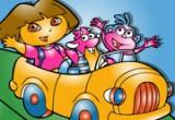 لعبة تلوين دورا وموزو في السيارة الجميلة2014