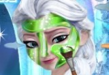 لعبة تنظيف بشرة الاميرة السا