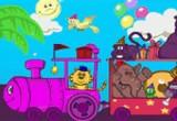 لعبة تلوين الحيوانات داخل القطار