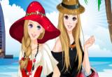 لعبة تلبيس الصديقات على شاطئ البحر