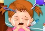لعبة علاج الطفل في المشفى