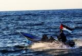 العاب السباحة على بحر غزة  2015