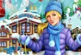 لعبة تلوين منتجع التزلج