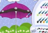 لعبة تلوين وتصميم مظلة الشتاء